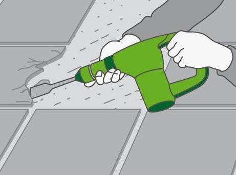 Comment enlever un carrelage de sol leroy merlin for Depose carrelage sol