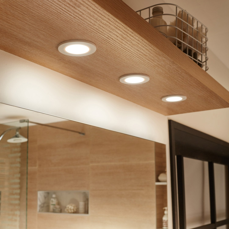 Kit 18 spots à encastrer salle de bains Bazao fixe INSPIRE LED intégrée blanc