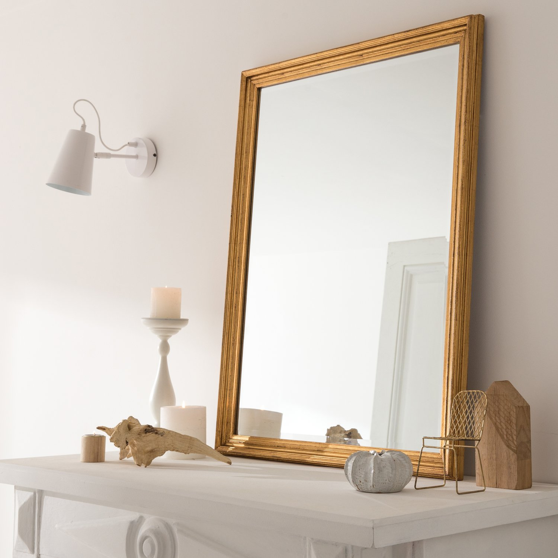 Adoptez une d coration naturelle votre int rieur avec un miroir dor leroy merlin for Grand miroir moderne