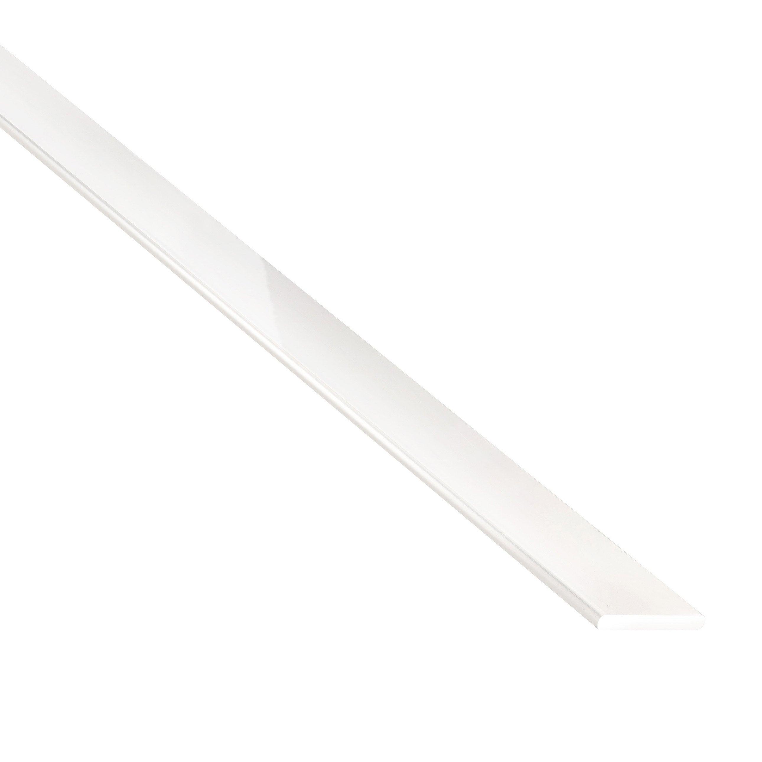 Plat Aluminium Laquée Blanc L1 M X L3 Cm X H02 Cm