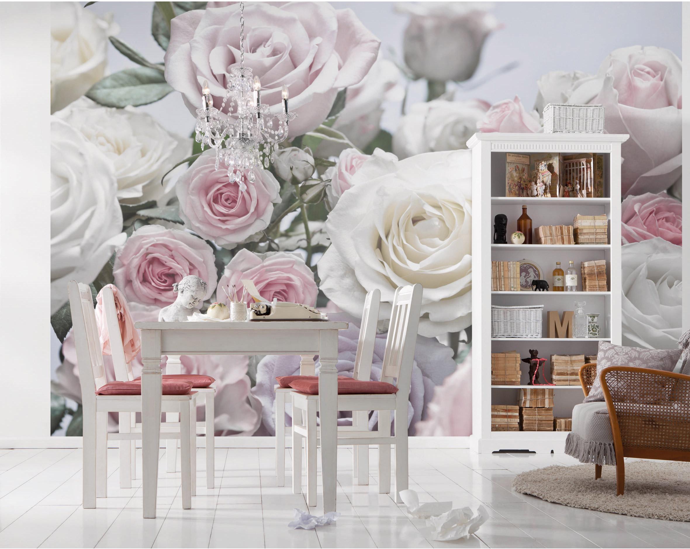 Photo murale Floraison rose pâle papier KOMAR l.254 x H.368 cm