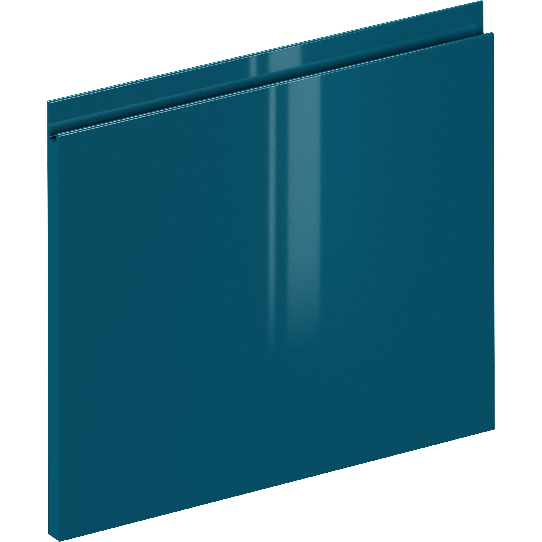 Façade de tiroir de cuisine Osaka bleu paon, DELINIA ID H.38.1 x l.59.7 cm