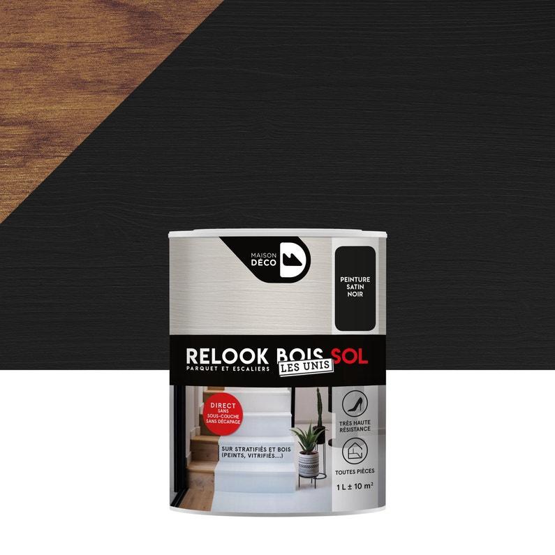 Peinture Sol Intérieur Relook Bois Maison Deco Noir 1 L