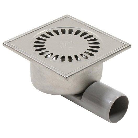 Siphon de sol douche à l'italienne, Diam.60 mm, L.15 x l.15 cm, SAS