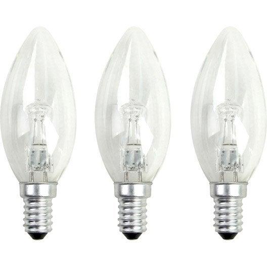 lot de 3 ampoules flammes halog nes 30w 410lm quiv. Black Bedroom Furniture Sets. Home Design Ideas