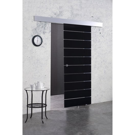 Porte coulissante verre tremp floride artens 204 x 83 cm - Porte coulissante dimension ...