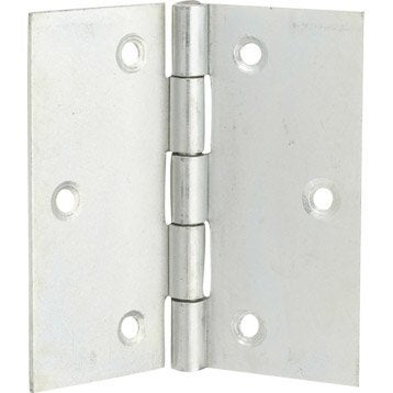 Charnière universelle acier pour meuble, 70 x 70 mm