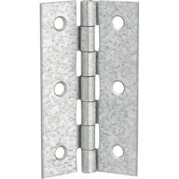 Charnière universelle acier pour meuble, 70 x 40 mm