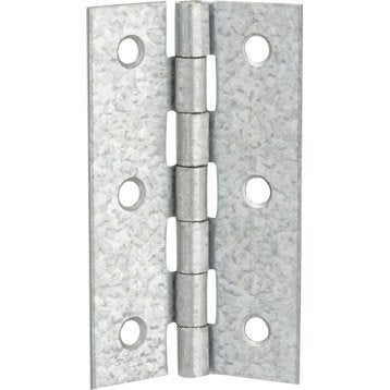 Charnière universelle acier pour meuble, L.70 x l.40 mm