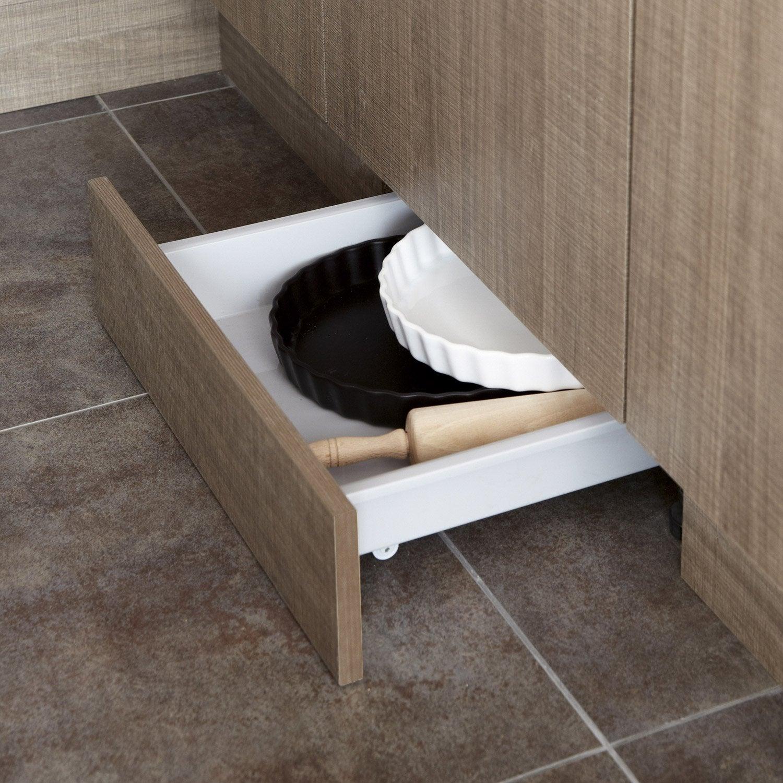 tiroir sous plinthe pour meuble cm delinia leroy merlin. Black Bedroom Furniture Sets. Home Design Ideas