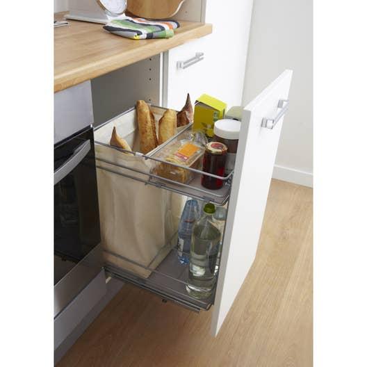 Rangement coulissant pain et bouteilles pour meuble for Produit cuisine