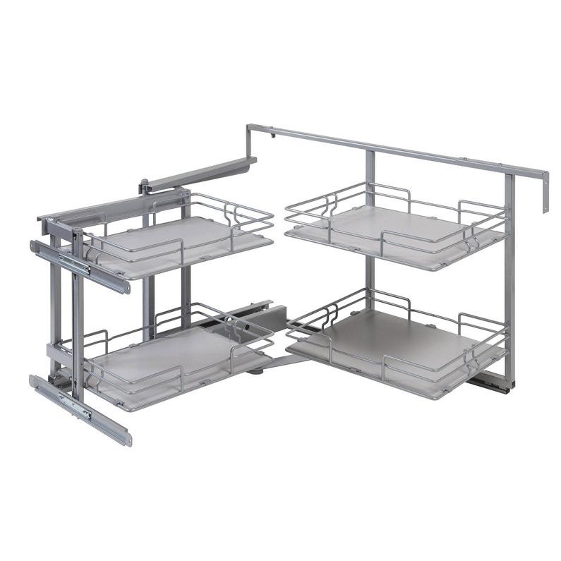rangement d 39 angle 4 paniers tirant gauche pour meuble d. Black Bedroom Furniture Sets. Home Design Ideas