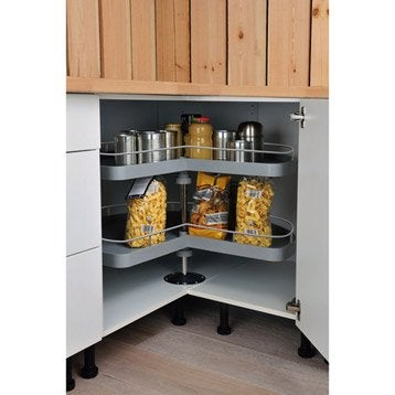 2 paniers tourniquet delinia - Amenagement interieur meuble cuisine leroy merlin ...