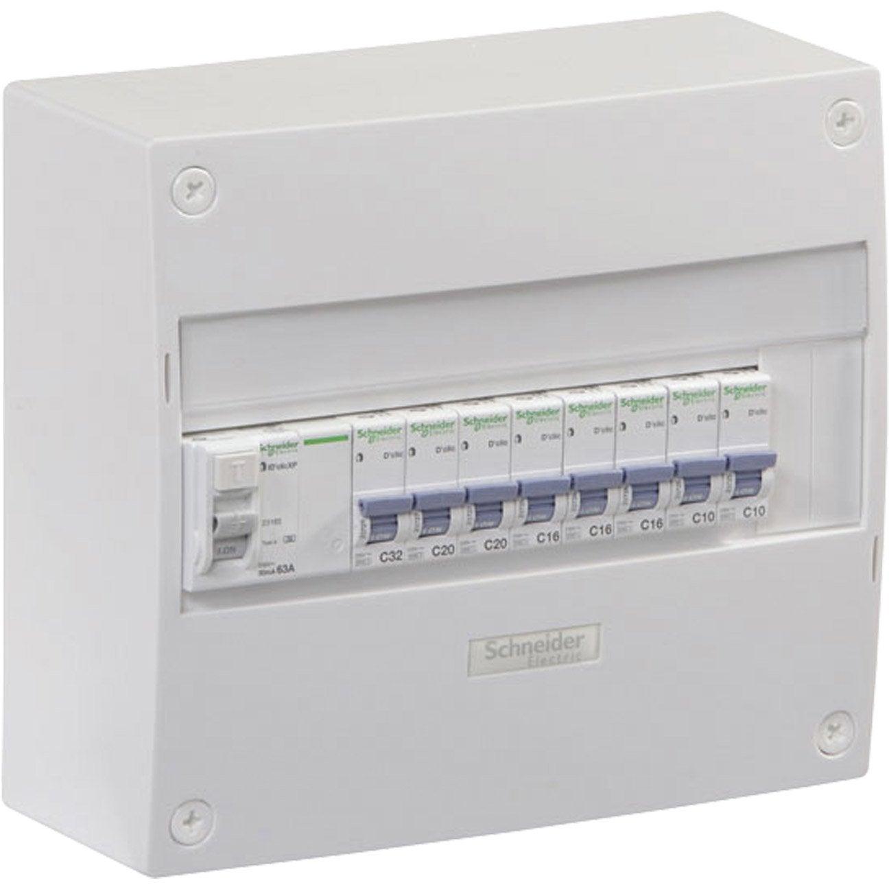 Tableau électrique équipé Et Précâblé Schneider Electric 1 Rangée 13