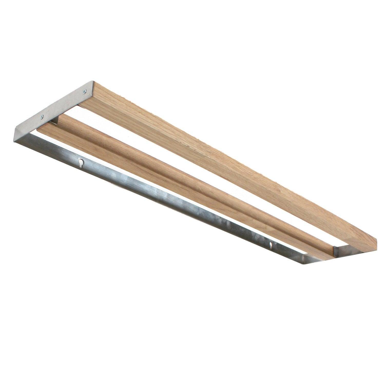 Porte-serviettes bois / métal 2 barres fixes oslo