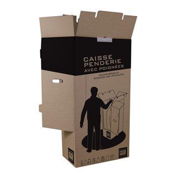 Carton penderie 20 cintres l.50 x H.1000 x P.30 cm