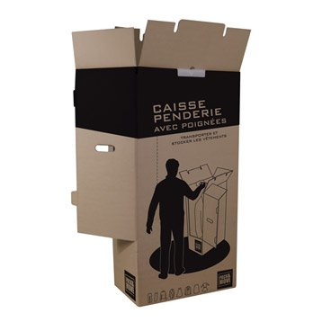 Carton penderie 20 cintres l.50 x H.100 x P.30 cm