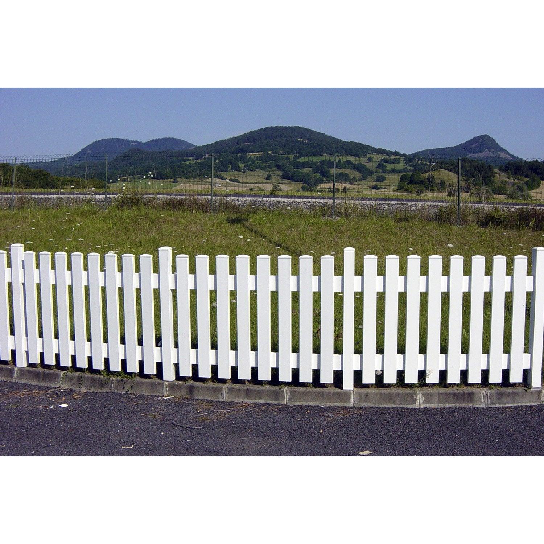 Clôture barreaudée pvc Treboul blanche, H.70 x l.150 cm