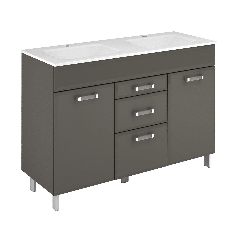 meuble vasque 121 cm gris opale leroy merlin. Black Bedroom Furniture Sets. Home Design Ideas