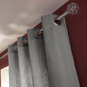 Rideau tamisant, Roma, gris-gris n°2, l.140 x H.240 cm INSPIRE