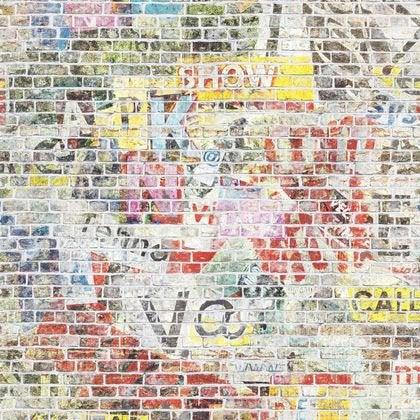 Papier Peint Brique Multicolore Clair Intisse Street Art Leroy Merlin
