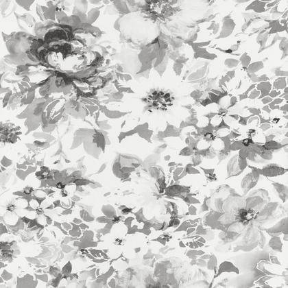 Papier peint intissé SHADES Fleurs noir irisé | Leroy Merlin
