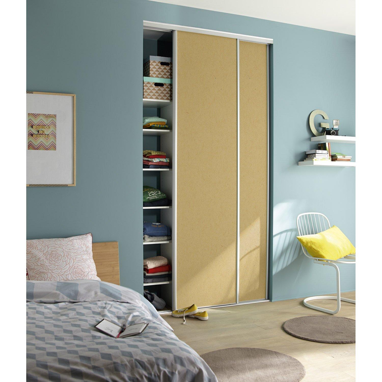 porte de placard coulissante peindre spaceo x cm leroy merlin. Black Bedroom Furniture Sets. Home Design Ideas