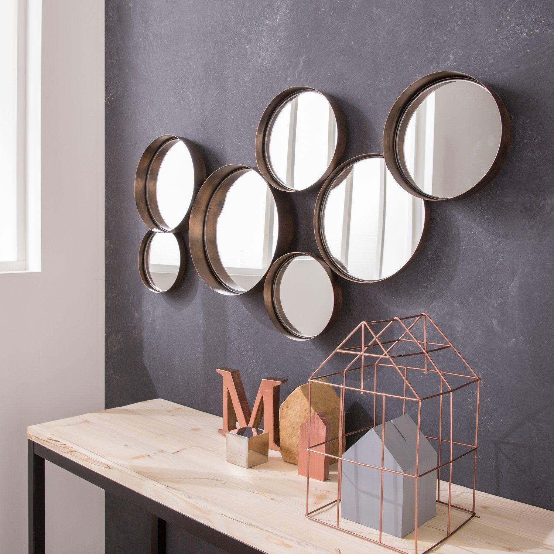 Habillez le mur de son sejour avec un miroir metal cuivre for Miroir pour sejour
