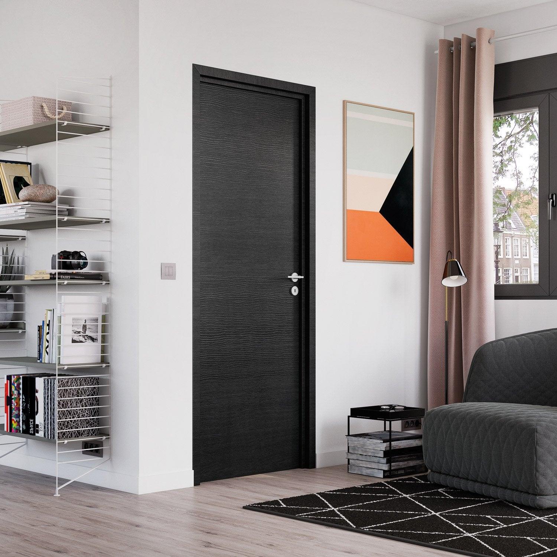 bloc porte london rev tu ch ne anthracite x droit leroy merlin. Black Bedroom Furniture Sets. Home Design Ideas