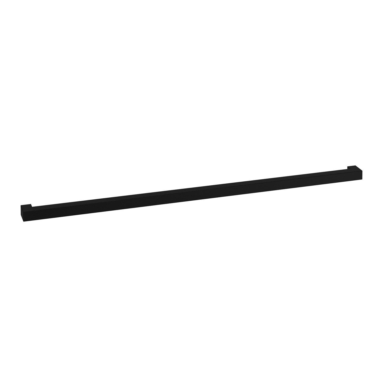 Barre de crédence acier anthracite l.60 mm x H.16 mm DELINIA ID