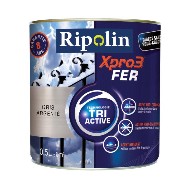 Peinture Fer Extérieur Intérieur Xpro 3 Ripolin Gris Argenté 05 L
