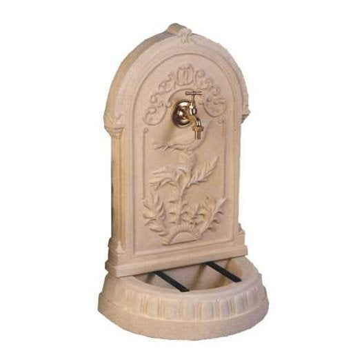 fontaine de jardin en pierre reconstitu e ton pierre primev re leroy merlin. Black Bedroom Furniture Sets. Home Design Ideas