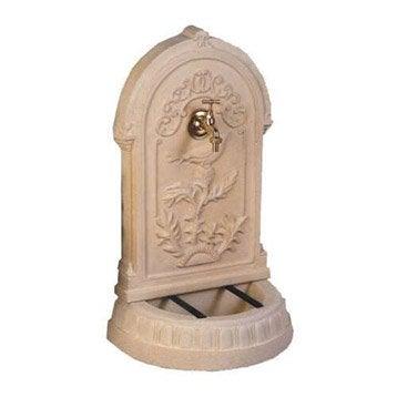 Fontaine de jardin en pierre reconstituée ton pierre Primevère