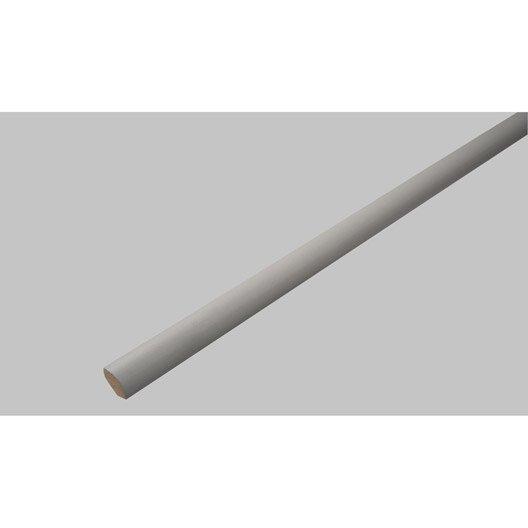 Quart-de-rond médium (MDF) gris galet 3, 14 x 14 mm, L. 2.4 m ...