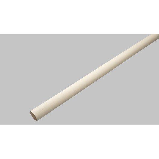 quart-de-rond médium (mdf) blanc ivoire 1, 14 x 14 mm, l. 2.4 m