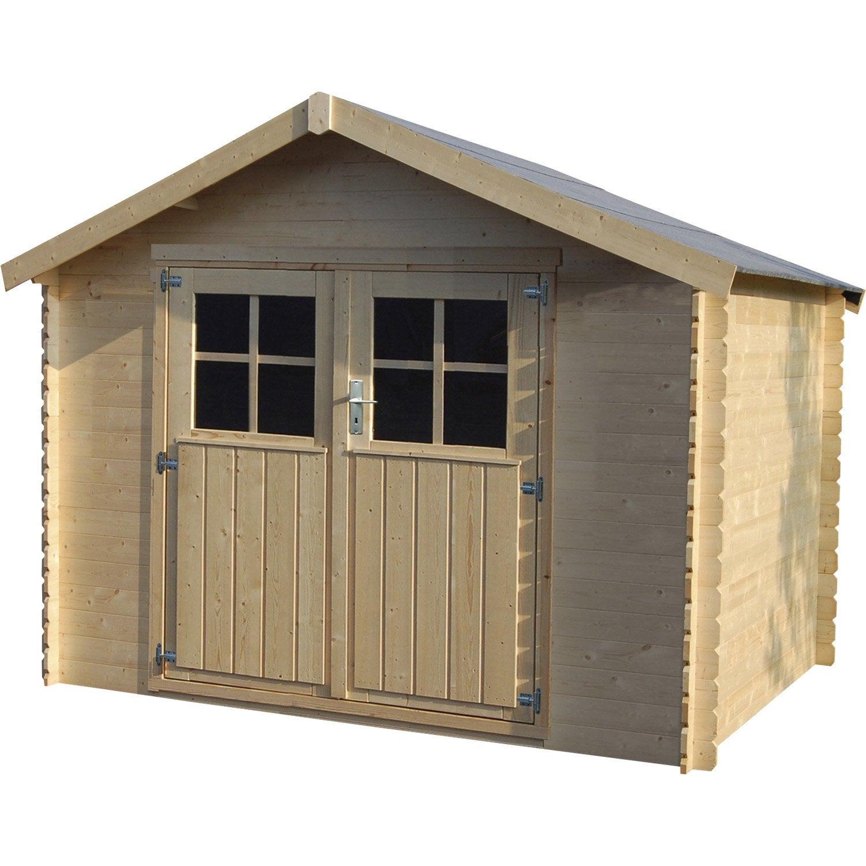 abri de jardin bois malo m mm leroy merlin. Black Bedroom Furniture Sets. Home Design Ideas