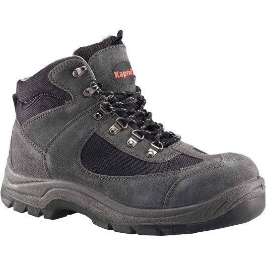 chaussures de s curit hautes kapriol nebraska coloris gris t44 leroy merlin. Black Bedroom Furniture Sets. Home Design Ideas