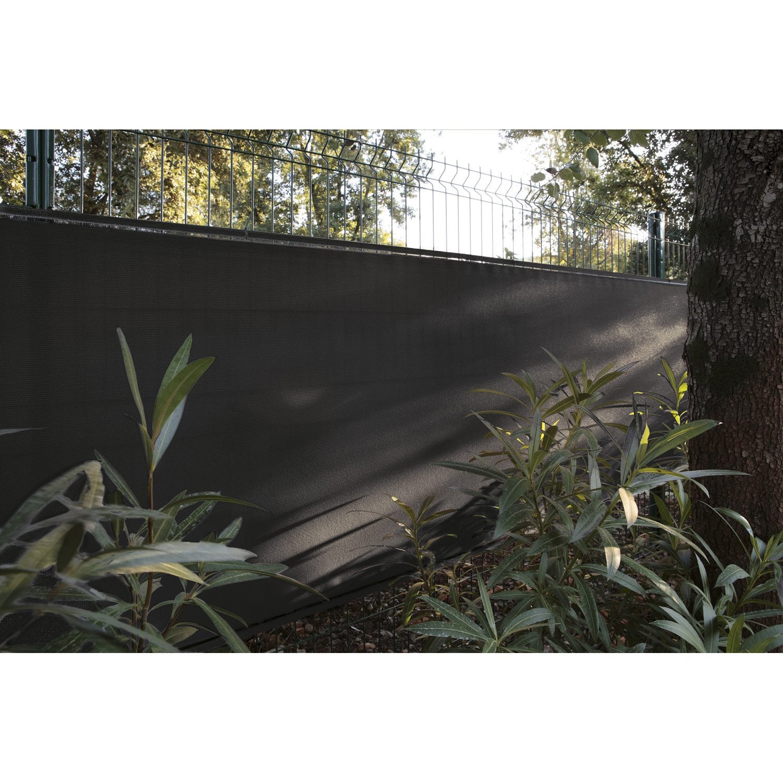 Brise-vue polyéthylène NATERIAL noir-noir n°0, H.150 cm x L.500 cm ...