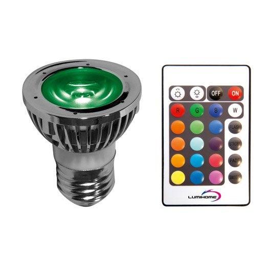 ampoule réflecteur led, changement de couleurs, avec télécommande