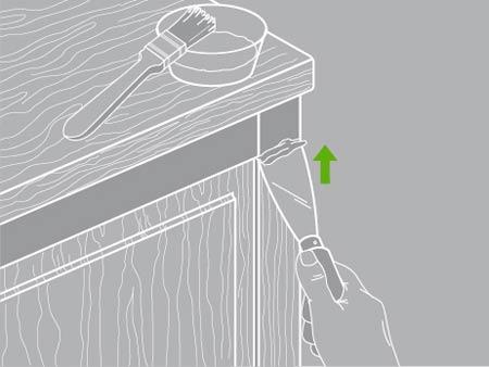 decapage meuble bois vernis awesome porte duentre peinte et vernie dape par arogommage with. Black Bedroom Furniture Sets. Home Design Ideas