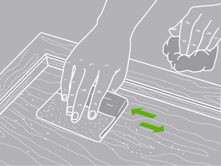 Comment restaurer un meuble leroy merlin for Retaper un meuble en bois