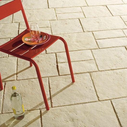 dalle pierre reconstitu e c vennes ton pierre 60x40 40x40 40x20 x mm leroy merlin. Black Bedroom Furniture Sets. Home Design Ideas