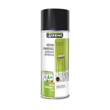 Vernis en bombe aérosol satin LUXENS, incolore, 0.4 l