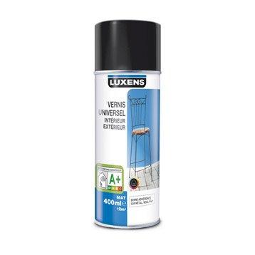Vernis en bombe aérosol mat LUXENS, incolore, 0.4 l