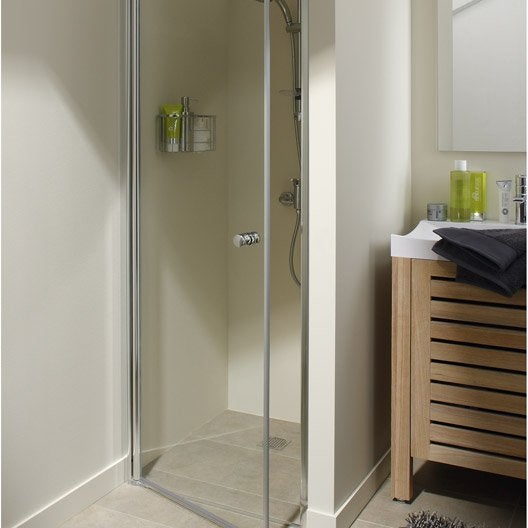 Porte de douche pivotante 70 cm transparent flexa for Porte 70 cm leroy merlin