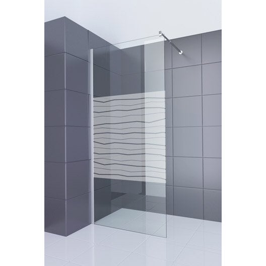 paroi de douche l 39 italienne cm verre s rigraphi 6 mm elektrik leroy merlin. Black Bedroom Furniture Sets. Home Design Ideas