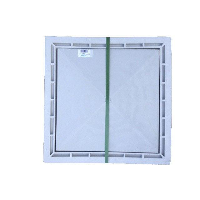 Cache à Carreler Pvc Gris First Plast L40 X L40 Cm