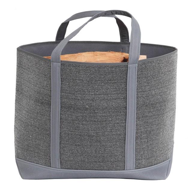 Un po le bois design dans votre salon leroy merlin - Sac a buches design ...