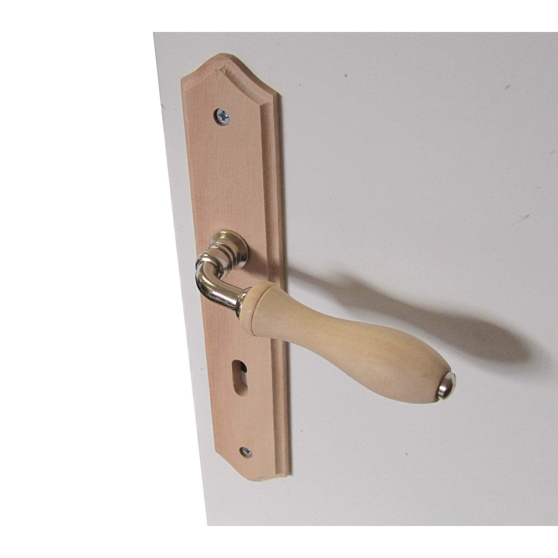 merveilleux 2 poignées de porte Bois trou de clé, bois, 195 mm