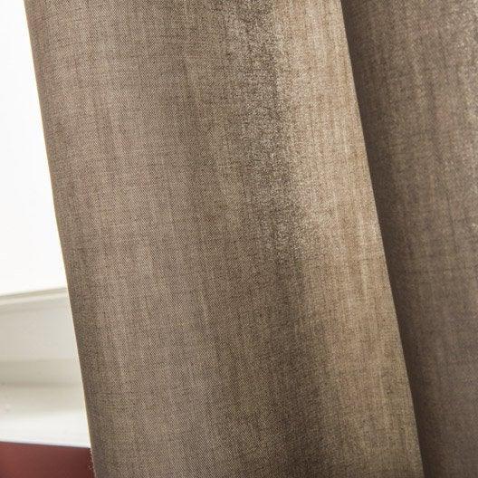 Rideau Roma INSPIRE, gris doré n°5, l.140 x H.240 cm